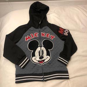 Disney Black,Gray,White Mickey Mouse Jacket size 5